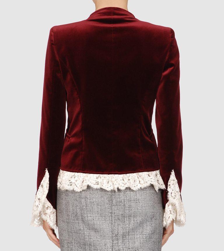 Valentino velvet lace ribbon blazer 2