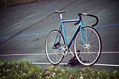 Track at the Track (Angelo Calilap) Tags: bike bicycle cycling track italia open bikes gear 1993 pro fixed pearl cannondale velodrome kissena ssp mavic suntour selle nitto superbe njs flite b123 cycleangelo