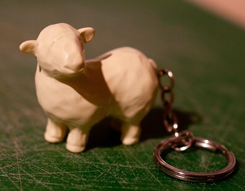 Sheep keyring