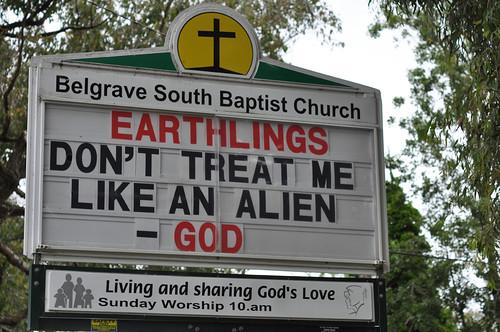 Belgrave South Baptist Church Sign
