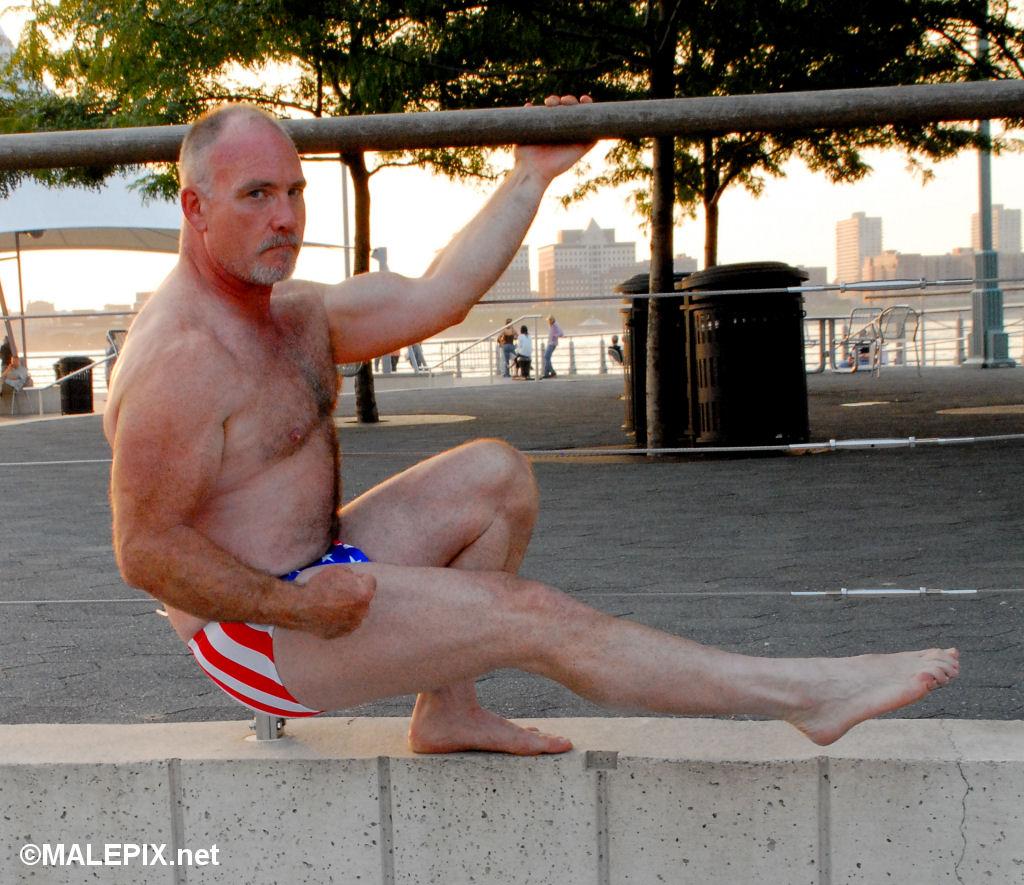 Skybuck_0459 (JeffBearNYC) Tags: musclebear feet muscles beard muscle bears  mature speedo bearded speedos