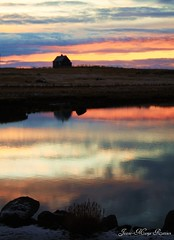 (Jaana-Marja) Tags: sunset sky house snow water reflections iceland stones straws sunsetcolours vanagram
