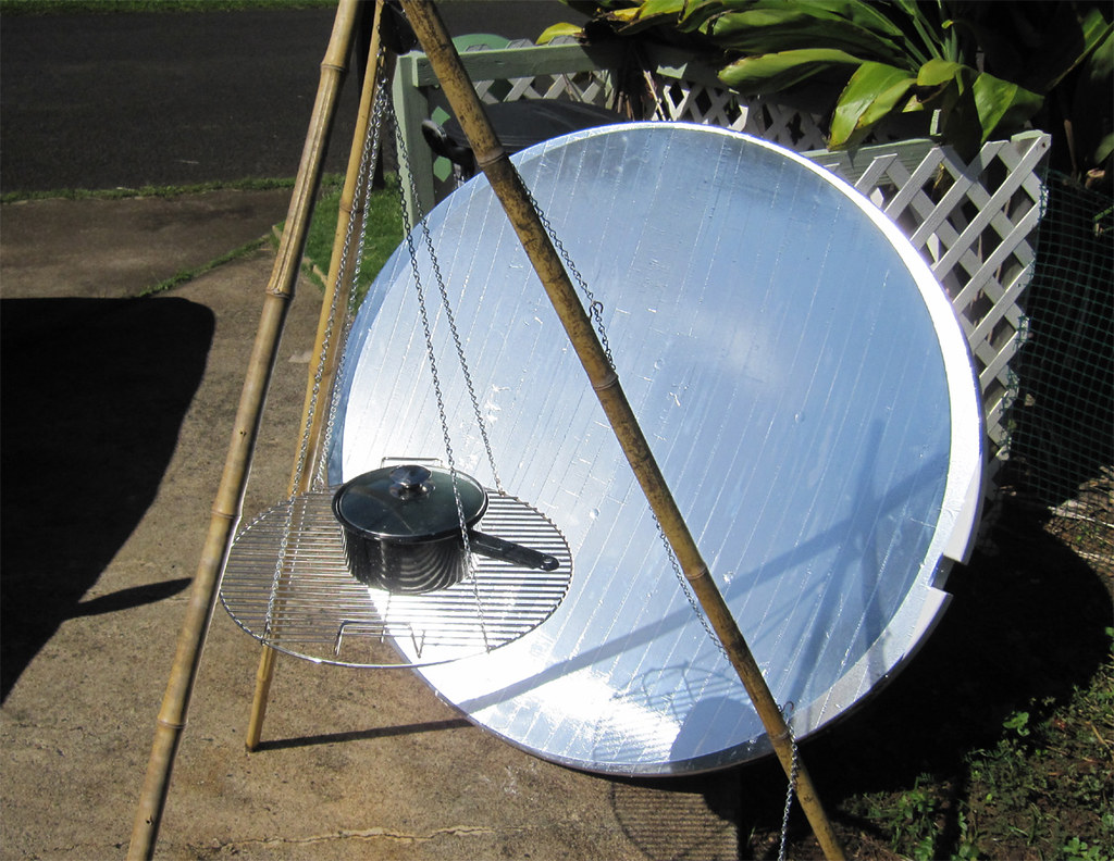 Large TV Dish Solar Cooker