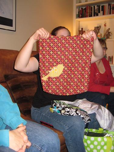 Mandi's appliqued bags