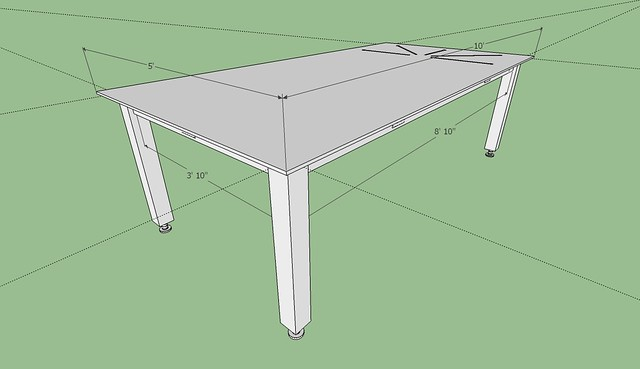 Welding Table Designs avoid metal warping on shop table top and legs pirate4x4com 4x4 and off road forum There Is An 8 10 Span Between The Legs Do I Need Another Pair Of Legs In The Center I Would Rather Keep The Span As Designed If I Can
