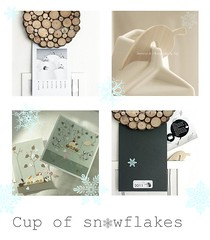 ~ the sweetest Cup of Snowflakes (Iro {Ivy style33}) Tags: illustration graphicdesign present blogged irene flickrfriends 2011calendar cupofsnowflakes domesticstorieswithivy ~thesweetestcupofsnowflakes thehedgehogslovestory