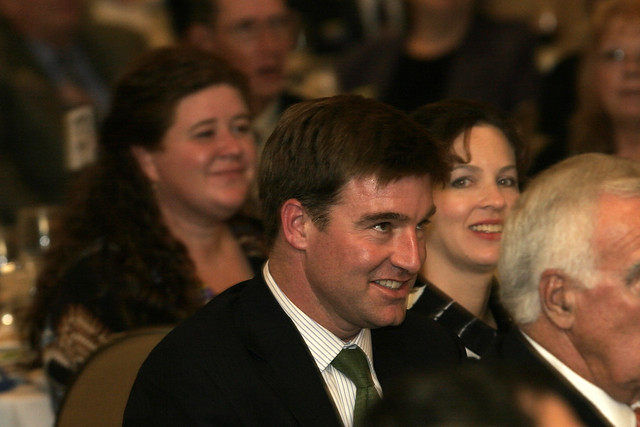 Jack Conway Listens to Senator Durbin Speak