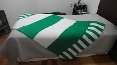 Colcha do Palmeiras (Cris Theoto) Tags: art tricot arte crochet artesanato yarn trico l croche colcha quadrados croch