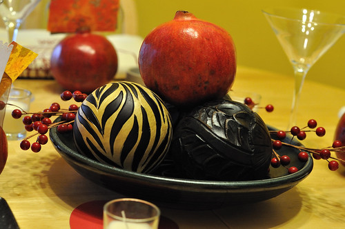 Pomegranate center piece