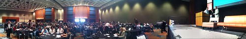 Internet Summit crowd pre-keynote in Raleigh Convention Ctr Ballroom B #isum10