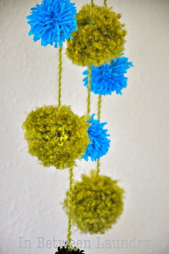 In Between Laundry Pom Pom Baby Mobile