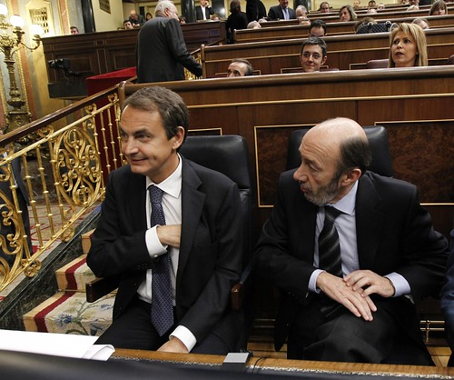 Zapatero y Rubalcaba