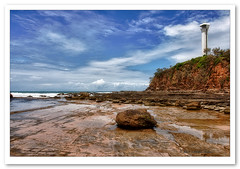 Point Cartwright-2475 (Barbara J H) Tags: ocean sea cliff lighthouse rocks australia qld lowtide hdr sunshinecoast pointcartwright barbarajh pointcartwrightlighthouse nikshdrefexpro clifffface
