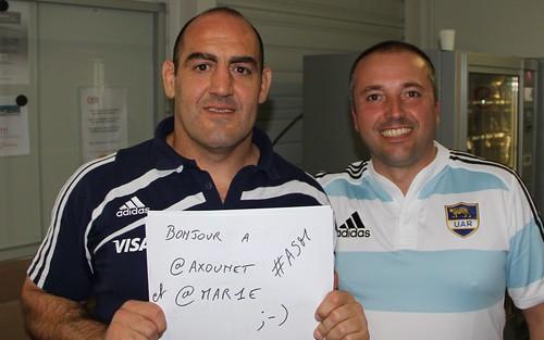Mario Ledesma et Pierre-Olivier Carles - Spéciale dédicace à des supporters de l'ASM