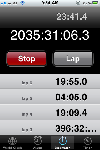 I have a hard time resetting the stopwatch on my iPhone #walkingtoworktoday