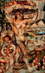 Le Fauconnier, Henri (1881-1945) - 1910 Abundance (RasMarley) Tags: fruit nude french child painter figure 1910 1910s 20thcentury abundance cubism henrilefauconnier lefauconnier