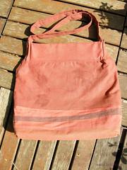 sac big size rouge verso feuilles de houblon imprimées