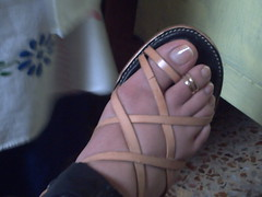 mi camara enero 123 (sandalman444) Tags: male men feet long sandals painted polish pedicure toenails toerings