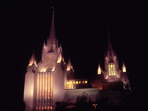 2010 Nov San Diego Temple at Night