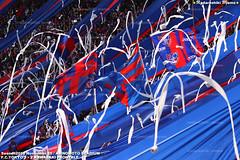 FC東京ゴール裏 + トイレットペーパー