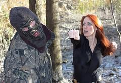 BW fight 1 (lovingthor) Tags: black soldier costume fight cosplay marvel widow hydra avengers throwdown