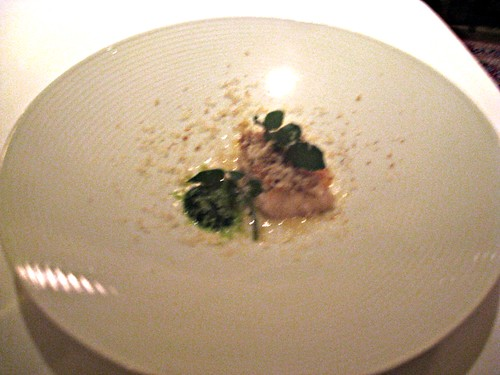 Manresa - Los Gatos, CA - November 20, 2010 - Black Bass with Walnut Oil and Wild Watercress