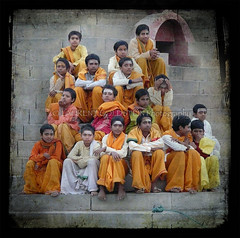 The Dawning of Knowledge (designldg) Tags: people india students childhood youth river children square education expression traditional culture atmosphere soul varanasi hindu dharma kashi ganga ganges ghats benares benaras brahman uttarpradesh भारत