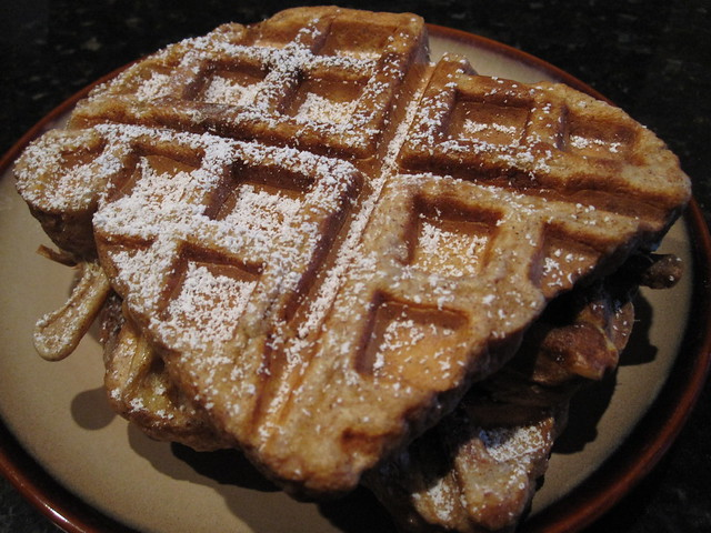 Fluffly Whole Wheat French Toast Waffles