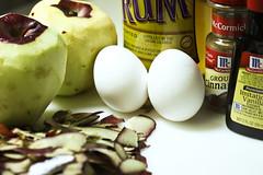 French Apple Cake (Yoke-Yin Purcaro) Tags: ingredients apples egges