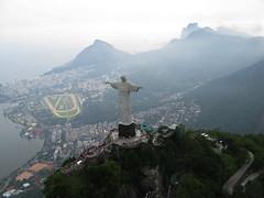 Cristo (bcople) Tags: sky praia rio brasil riodejaneiro fly cu helicopter cristo helicoptero g9