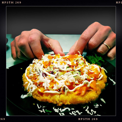 sushi pizza at Tomoya