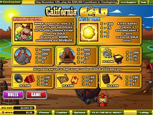 free California Gold slot mini symbol