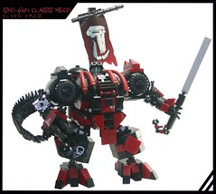 SH0-6UN Class Mech (tin) Tags: gun lego banner attack gimp suit creation walker sword rocket ba shogun chiang mecha bot mech moc powersuit hardsuit atin samuria