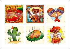 free La Cucaracha slot game symbols