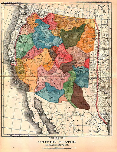 John Wesley Powell, States as River Basins