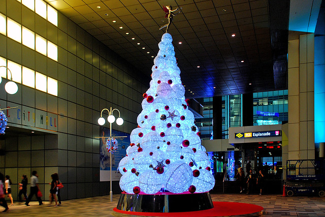 Christmas tree at Suntec City, Singapore
