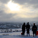 Sandal castle sledgers looking out - Bill Winder