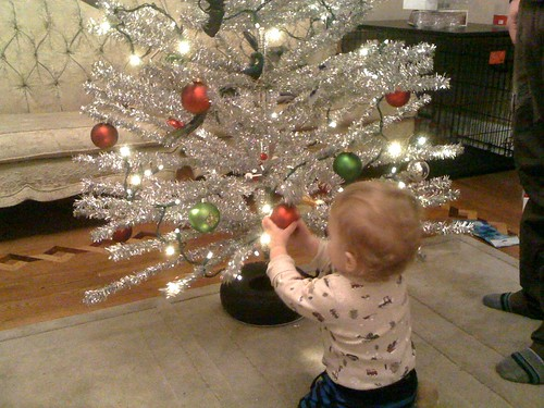 jude decorates the tree