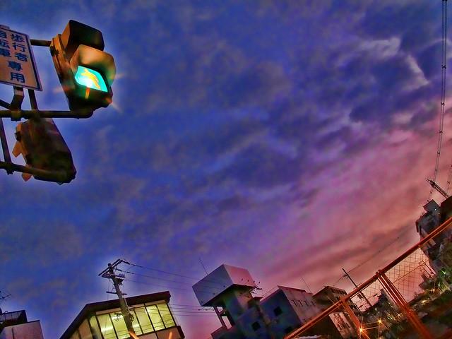 疎開道路の空2011