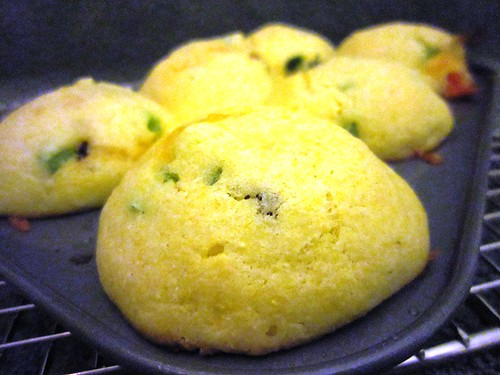 Cornbread muffins with tops!