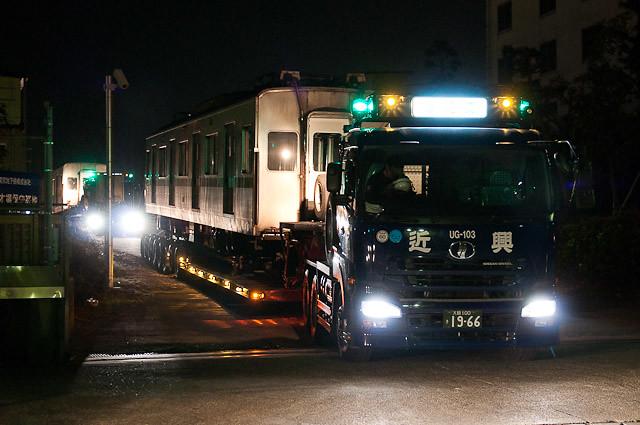 東京メトロ千代田線6000系 6126F 陸送 2011年1月19日