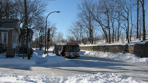 Northbound CTA bus on Chicago Avenue. Evanston Illinois USA. Thursday, February 3rd, 2011 by Eddie from Chicago