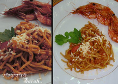 No man is lonely eating spaghetti xD (Sarah Altamimi) Tags: food sarah christopher eat spaghetti morley