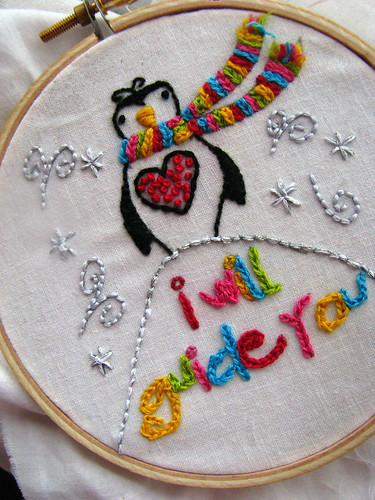 Penguin Embroidery