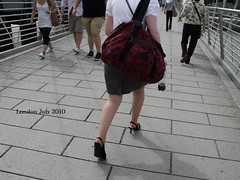 DSCF3121 (Candid Heels) Tags: street public stockings high pumps boots shots sandals candid heels pantyhose nylons