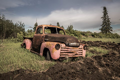 Primed Chevy (@KRC) Tags: old sask farm truck rough rust pentax k1 chev hot rod dirty
