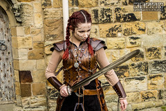 IMG_9487.jpg (Neil Keogh Photography) Tags: silver whitbygothweekend steampunk sword shoulderguards viking brown steampunkdress armguards red warrior goth armour blouse whitby top female woman whitbygothicweekendapril2017 facepaint black gothic trousers leather waistcoat white