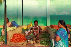 Street photography (Rajavelu1) Tags: farmersmarket farmer customers colours vegetables canon60d outdoorphotography streetphotography india people art creative