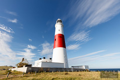 Portland Bill Lighthouse (tomstephens89) Tags: bluesky canon5dsr canon lowperspective ultrawide wideangle weymouth portland lighthouse portlandbill sky cloud dorset