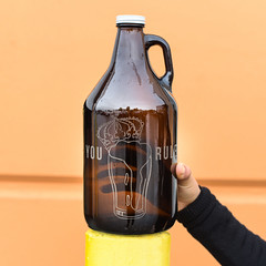 Your Rule Custom Engraved Growler (sigilandgrowler.com) Tags: dad giftideas yourule king queen crown design graphicdesign custom engrave beer